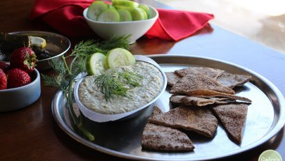 Cucumber Dill Hummus: This cucumber dill hummus recipe from Easy Whole Vegan adds a lightness and unexpected nuance to everyone's favorite dip. | cadryskitchen.com