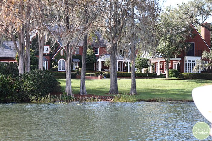 Former house of Mister Rogers in Winter Park, Florida on Lake Osceola.