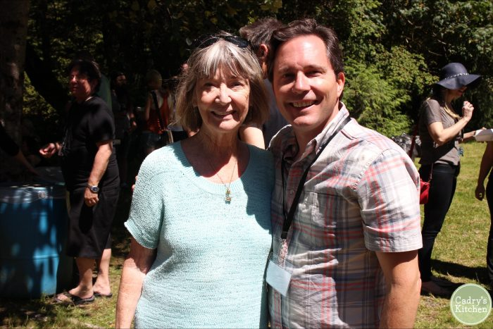 David Busch and Charlotte Stewart at picnic.