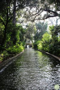 Canal off Lake Osceola in Winter Park, Florida.