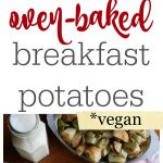 These oven-baked breakfast potatoes come together easily. You can make them while you get ready for the day. Vegan & gluten free. | cadryskitchen.com
