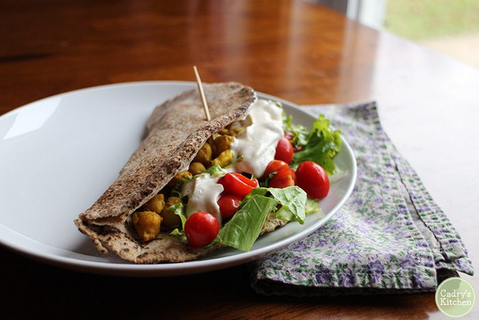 Chickpea Shawarma from Vegan Sandwiches Save the Day | cadryskitchen.com
