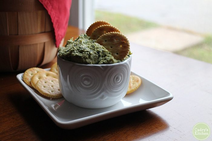 Artichoke kale hummus from But My Family Would Never Eat Vegan by Kristy Turner - Review & giveaway | cadryskitchen.com