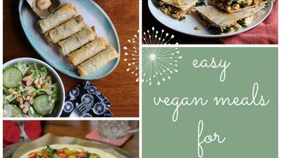 Easy vegan meals for a lazy day. No recipes necessary!   cadryskitchen.com
