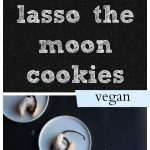 Lasso the Moon Cookies: These delicate cookies are inspired by It's a Wonderful Life, the classic Christmas movie. In it, George Bailey offers to lasso the moon for his crush. These light and buttery vegan cookies include a chocolate lasso. | cadryskitchen.com