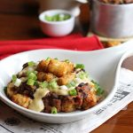 Vegan chili cheese tater tots