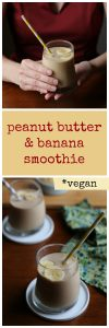 Classic peanut butter banana smoothie. 2 flavors that taste amazing together. Creamy, whippy, nutty, sweet, and totally vegan. Dairy-free. | cadryskitchen.com