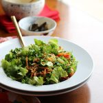 Kale & wheat berry salad with lemon tahini dressing