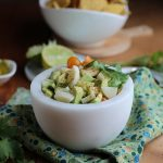 Vegan ceviche with hearts of palm