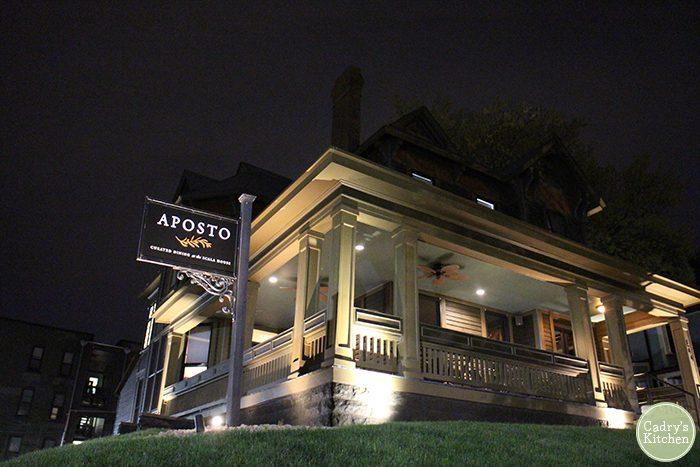 Vegan prix fixe dinner at Aposto at the Scala House in Des Moines, Iowa | cadryskitchen.com