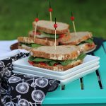 Picnic sandwich with jalapeño cashew cheese & veg