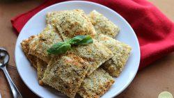Vegan fried ravioli in the air fryer: Toasted vegan ravioli dredged in seasoned panko. A great party appetizer! | cadryskitchen.com