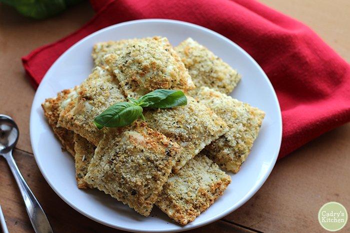Vegan Air Fried Ravioli