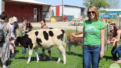 Cadry at Iowa Farm Sanctuary, Carl in background