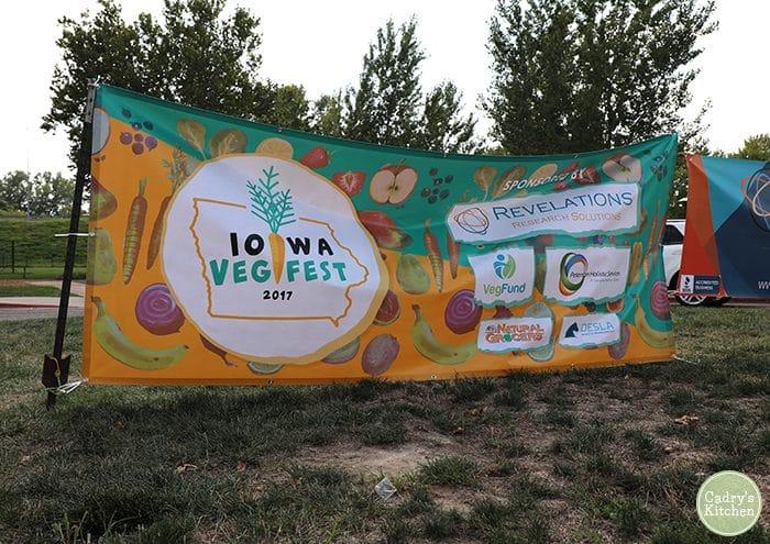 Iowa VegFest 2017 banner.