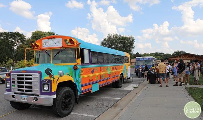 Veggie Thumper bus at Iowa VegFest.