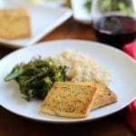 Easy baked tofu recipe with lemon & rosemary