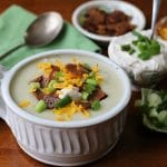 Fully loaded vegan baked potato soup
