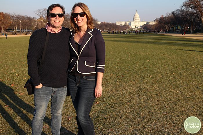 David and Cadry in front of Capitol Building on National Mall.