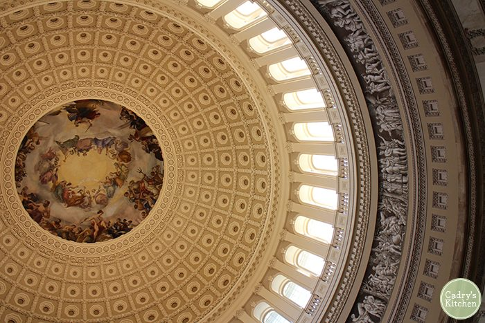 Interior dome of Capitol Building in Washington, D.C.