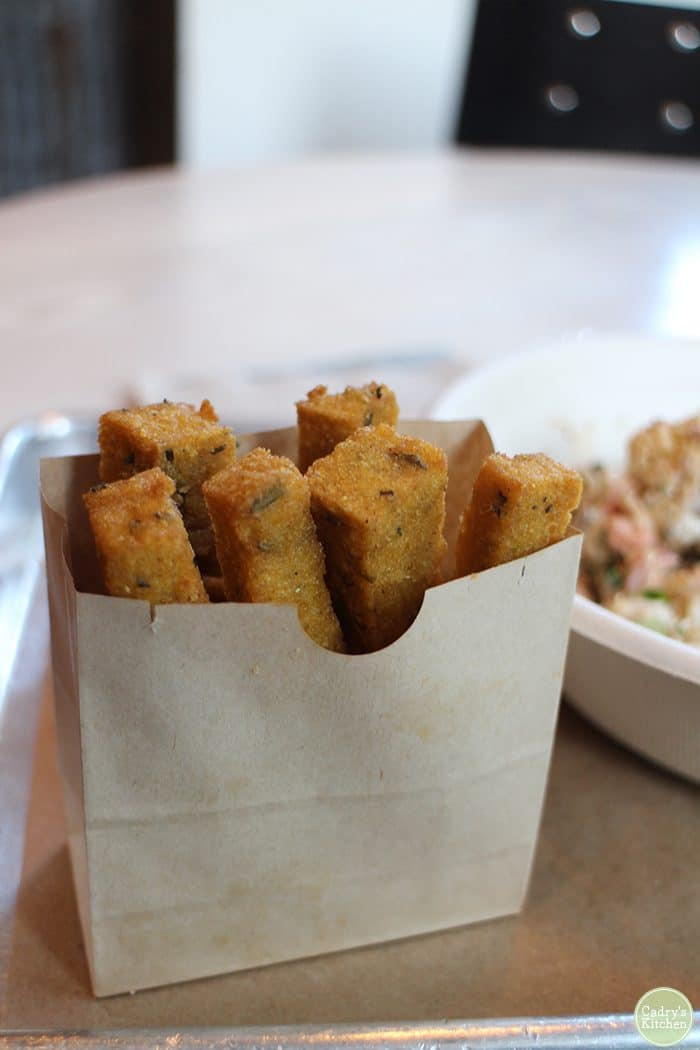 Polenta fries at Shouk restaurant in Washington, D.C.