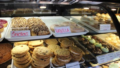 Vegan doughnuts, cookies, and cupcakes at Sticky Fingers Bakery.