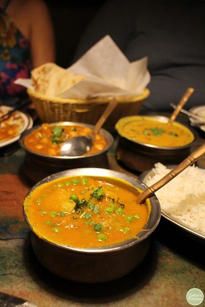 Aloo muttar at Taste of India in Cedar Rapids.