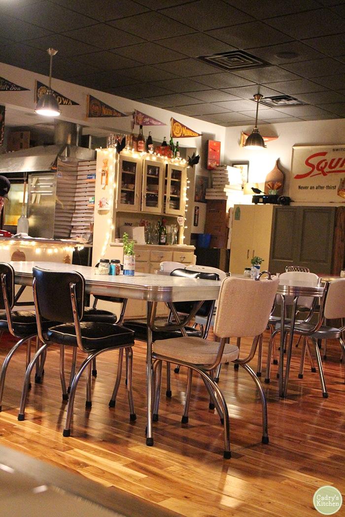 Interior Cappy's Pizzeria in Cedar Rapids, Iowa.