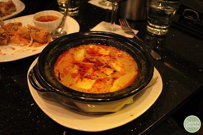 Vegan curry from Jasmine 26.