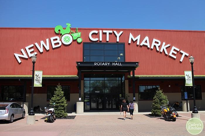 Exterior Newbo City Market in Cedar Rapids, Iowa.