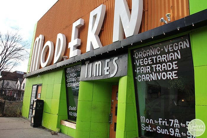 Exterior Modern Times in Minneapolis, Minnesota.