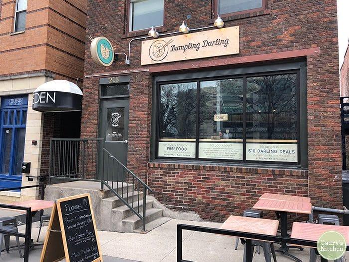 Exterior Dumpling Darling in Iowa City, Iowa.