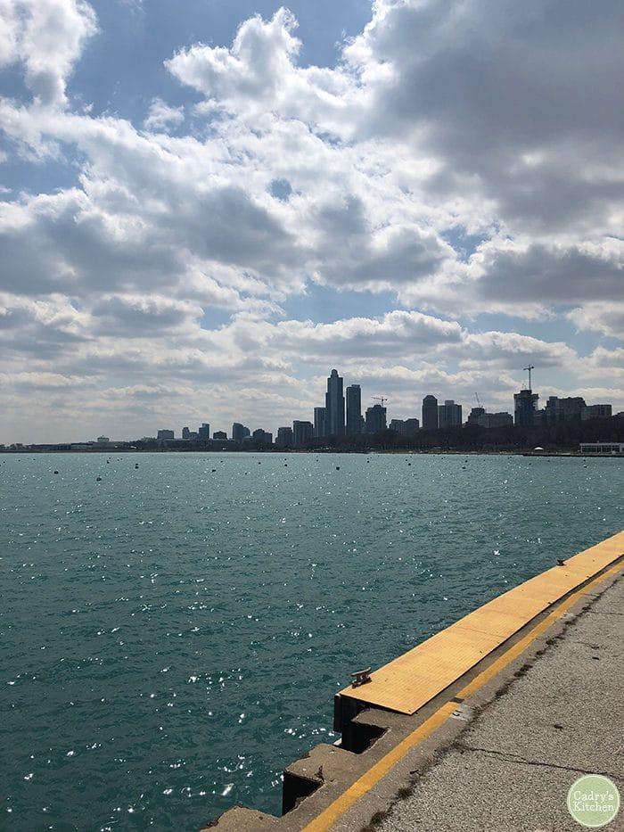 Lake Michigan in Chicago, Illinois.