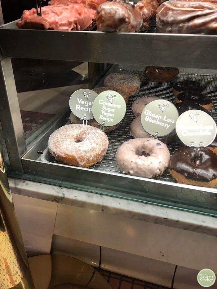 Vegan donuts at Stan's Donuts in downtown Chicago, Illinois.