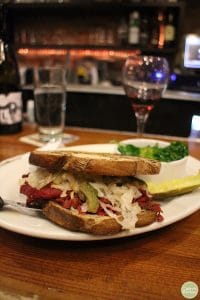 Vegan reuben at Chicago Diner in Logan Square.