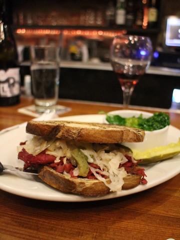 Vegan reuben at Chicago Diner in Logan Square.
