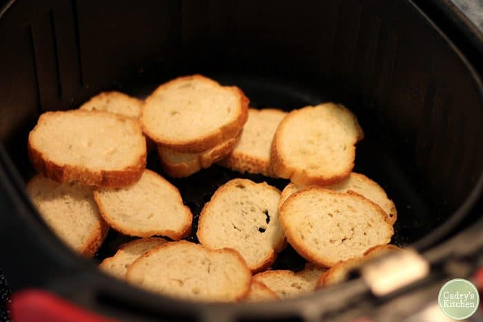 Crostini in air fryer.