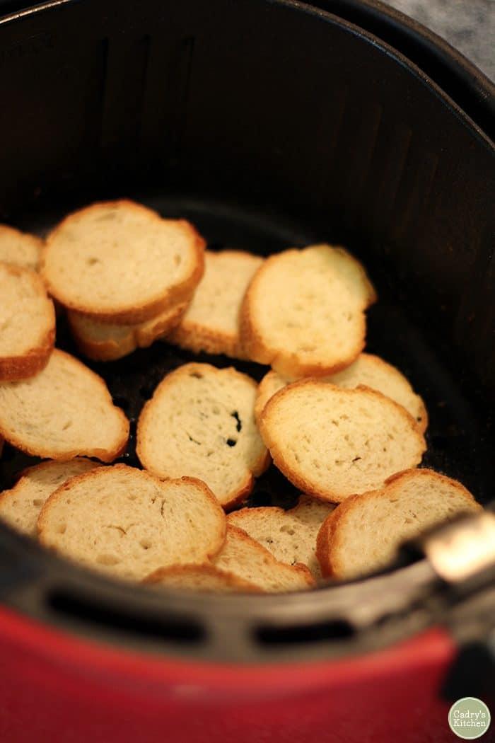 Crostini in the air fryer.