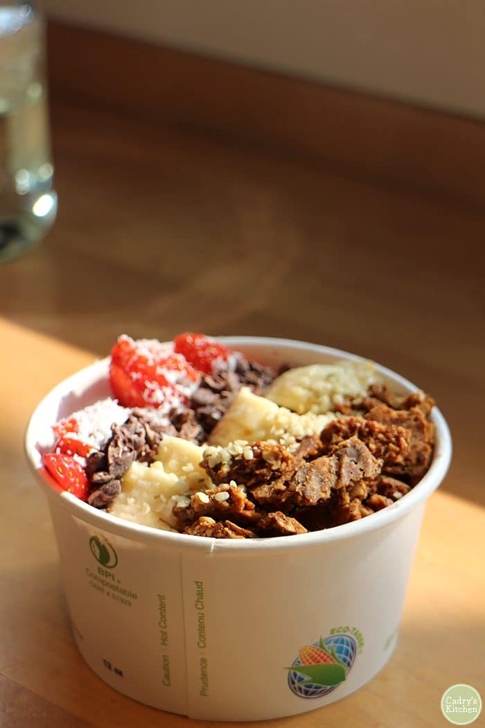 Acai bowl at Heirloom Juice Company.
