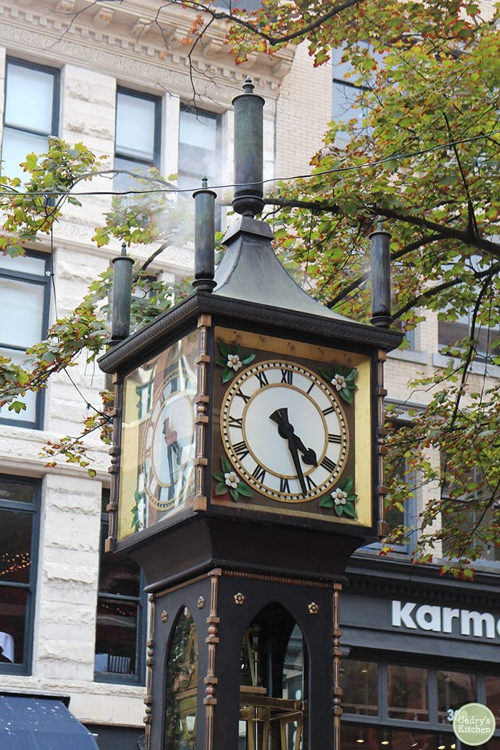 Steam clock in Gastown, Vancouver.