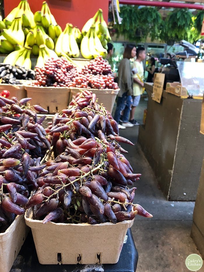 Grapes at Granville Island Public Market in Vancouver.
