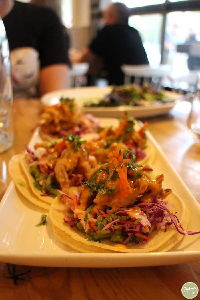 Mushroom tacos at the Arbor in Vancouver.