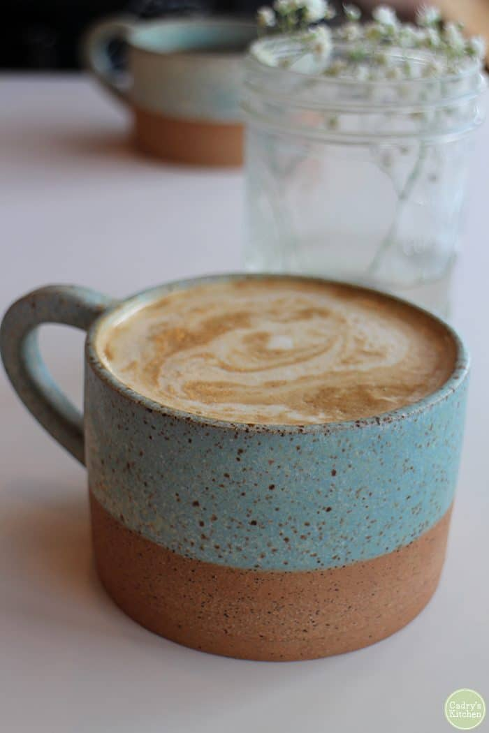 Soy latte at Farine + Four.
