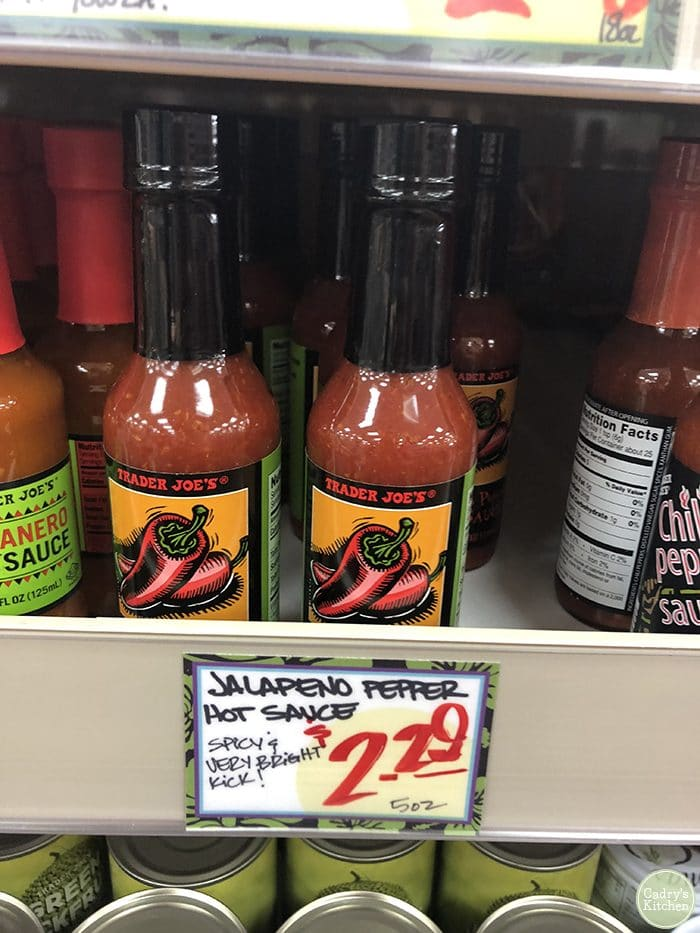 Trader Joe's jalapeno hot sauce.
