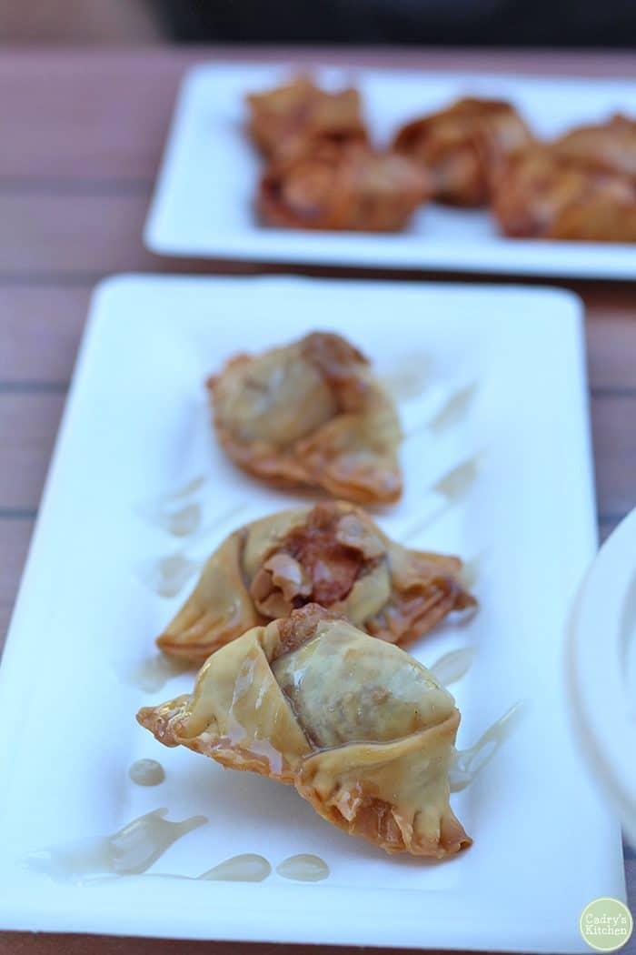 Apple pie dumplings at Dumpling Darling in Iowa City, Iowa.