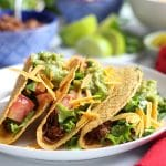Jackfruit carnitas tacos with red wine