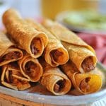 Vegan taquitos with jackfruit – air fryer or oven!
