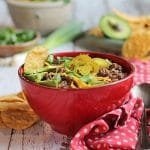 Lentil chili with pinto & black beans