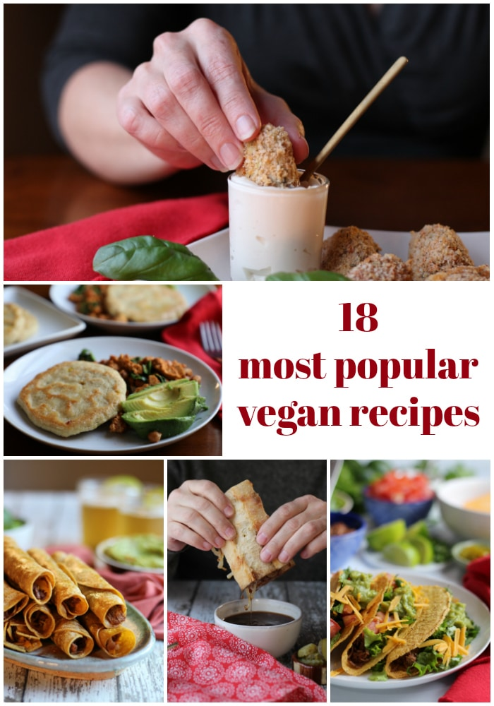 And just like that, 2018 is coming to a close. I'm taking a look back at my 18 most popular vegan recipes from the year - appetizers, entrees & sandwiches. #vegan #popular #entrees #appetizers