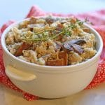 Creamy vegan risotto with mushrooms & sausage
